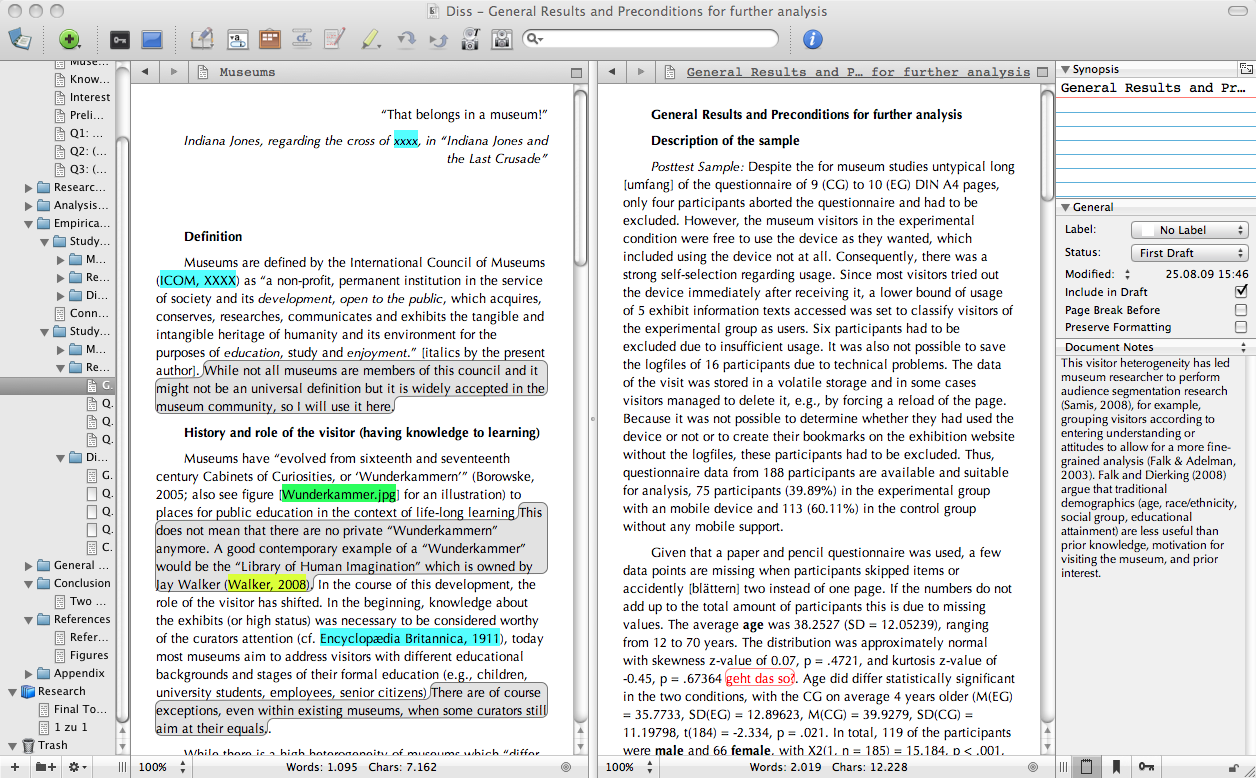 microsoft word thesis writing