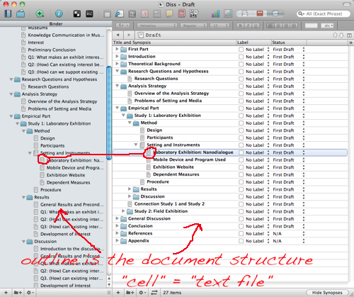 How I use Scrivener for academic writing