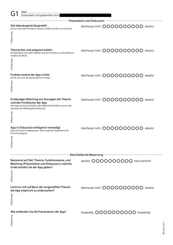 App Evaluation Sheet