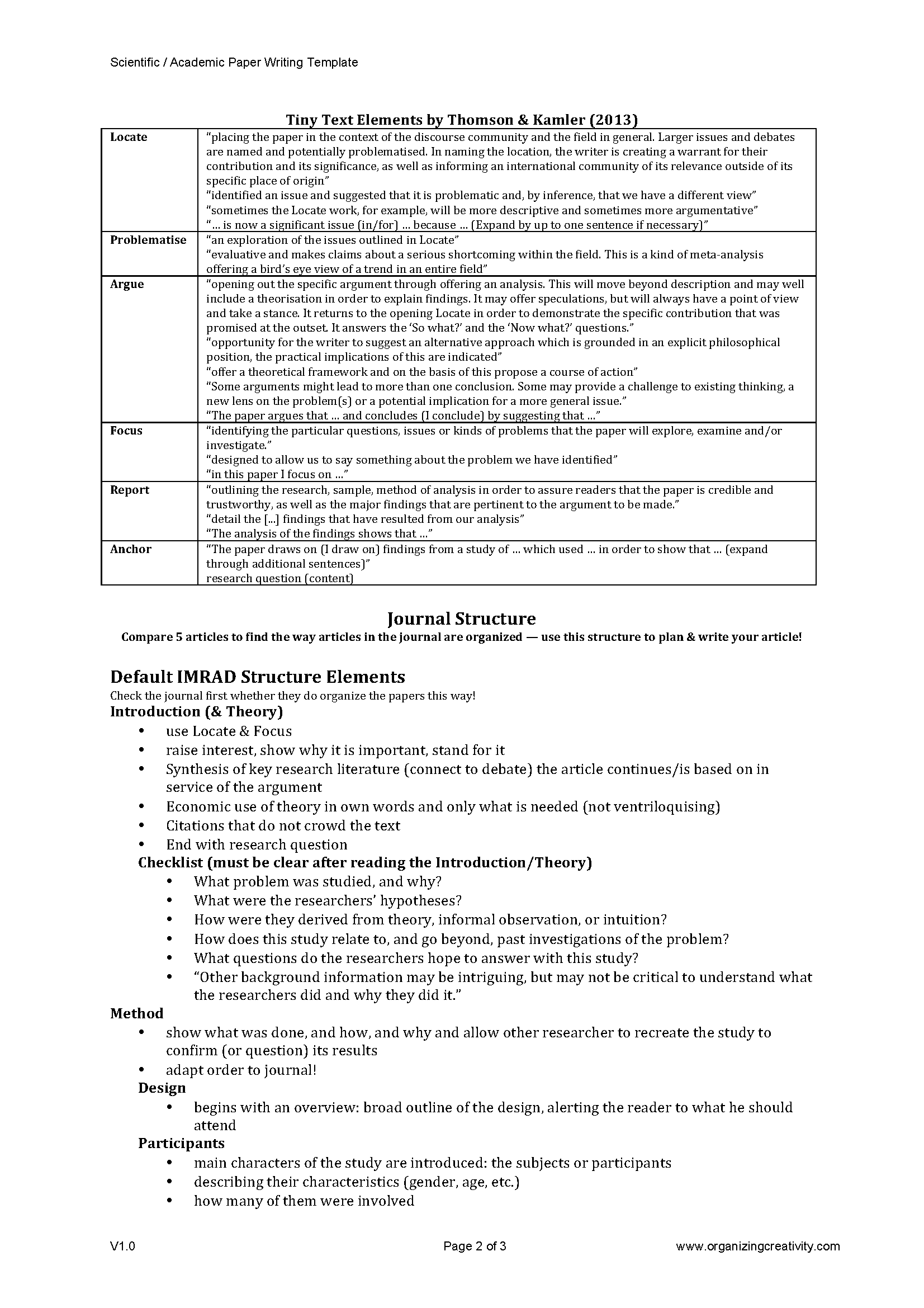 scientific report template