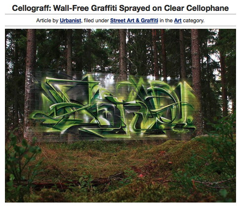 cellophane graffiti
