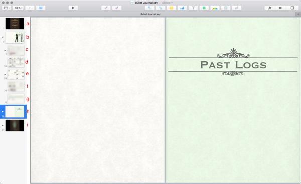 A Digital Bullet Journal With Apples Keynote Organizing Creativity