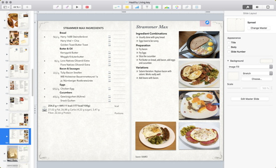 Semi-intelligent Cookbooks with Numbers and Keynote