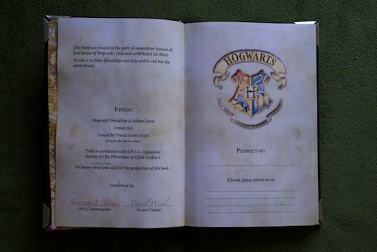 Hogwarts Address Book